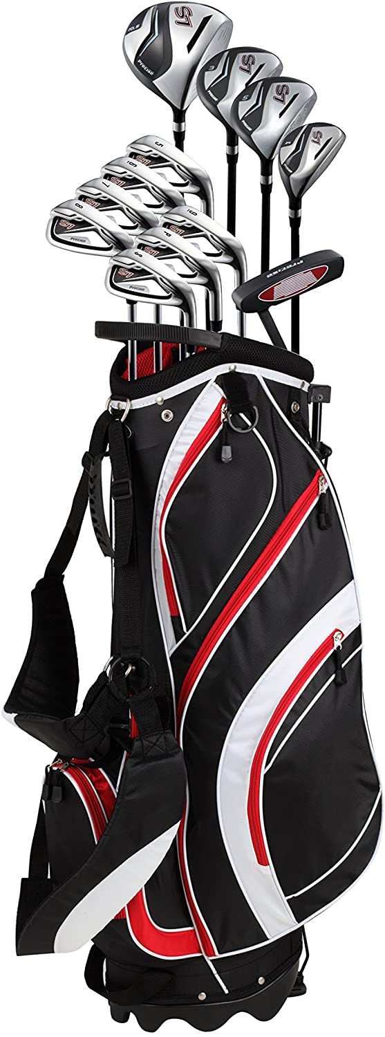 Precise S7 18 Piece Men's Complete Golf Club Package Set